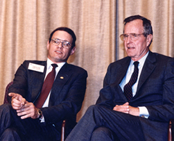 Taylor Brown with President Bush
